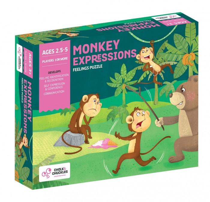Купить Игры для малышей, Chalk&Сhuckles Игра настольная Эмоции обезьянки