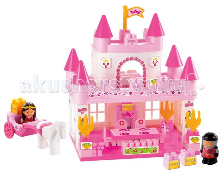 Конструкторы Ecoiffier Замок принцессы, 59 предметов  конструктор замок принцессы 59 деталей