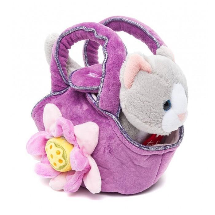 Купить Мягкие игрушки, Мягкая игрушка Trudi Котёнок в сумочке 15 см