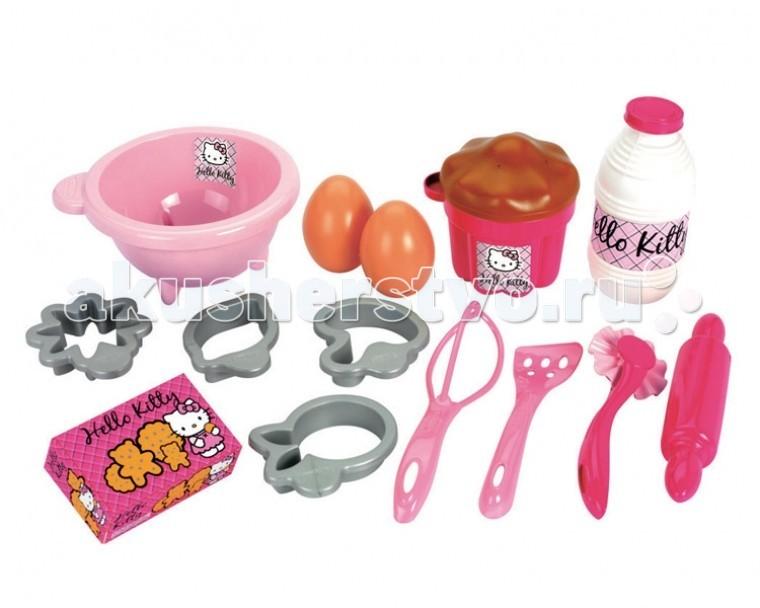 Игровые наборы Ecoiffier Набор посуды с продуктами Hello Kitty лоферы milana лоферы