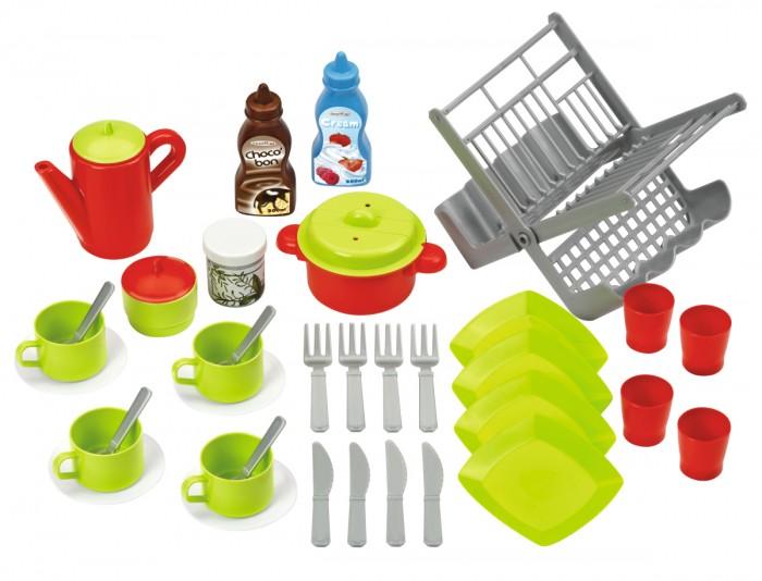 Игровые наборы Ecoiffier Набор посуды с сушилкой игровые наборы ecoiffier игровой набор вафельница 22 предмета