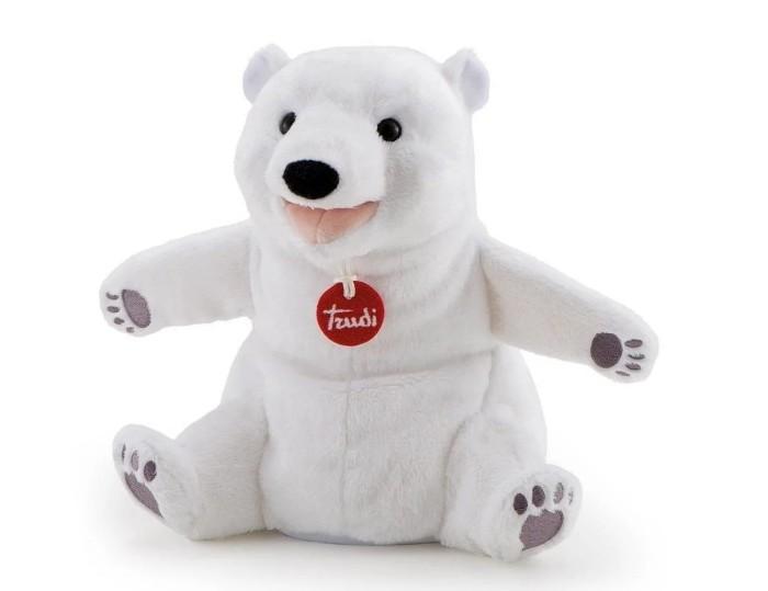 Trudi Мягкая игрушка на руку Белый мишка 24 см