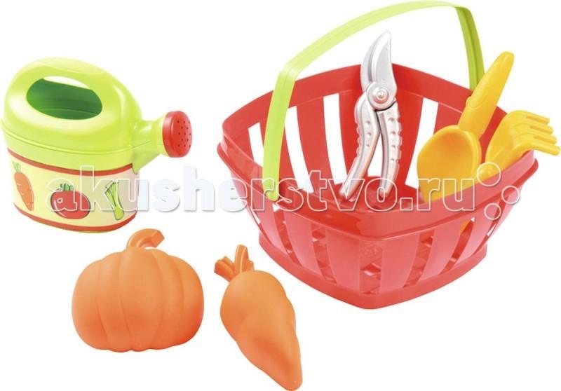 Игрушки в песочницу Ecoiffier Набор для огорода в корзине для огорода