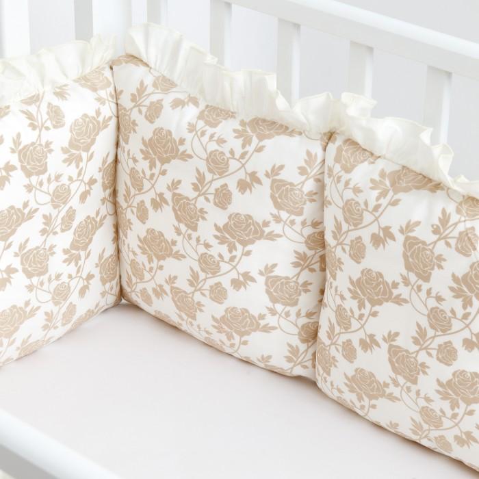 Бортик в кроватку Colibri&Lilly защитный Royal Rose Gold 120х60