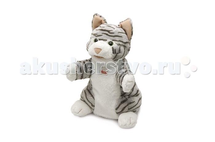 Картинка для Ролевые игры Trudi Мягкая игрушка на руку Кошка полосатая 25 см