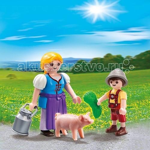 Playmobil Ферма: Набор Крестьянка и мальчик оголошення в газетах продам корову