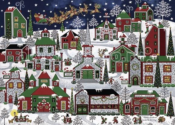 Ravensburger Пазл Рождественский город 1000 элементов