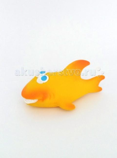 Игрушки для ванны Lanco Латексная игрушка Акула желтая 1186 игрушки для ванны lanco латексная игрушка из 2 х геометрических фигур 664 2