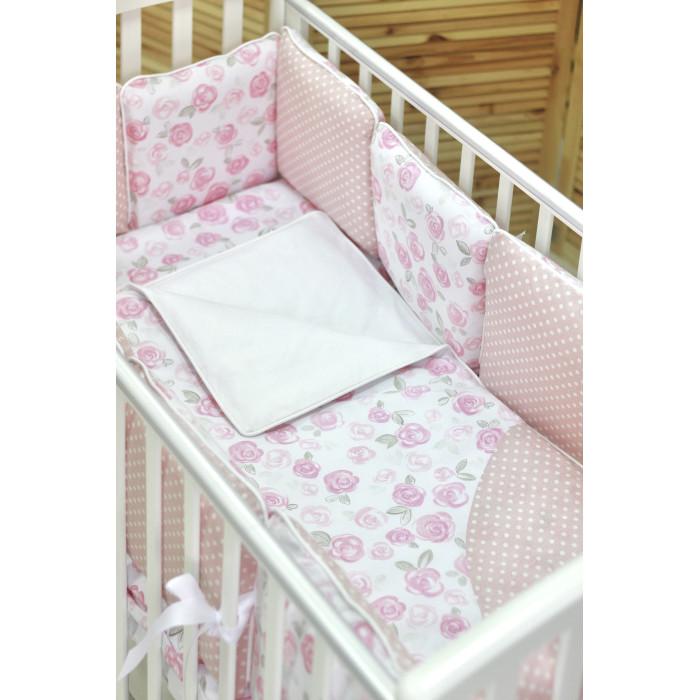 Комплект в кроватку Fluffymoon  Tender Rose бортики-подушки (5 предметов)