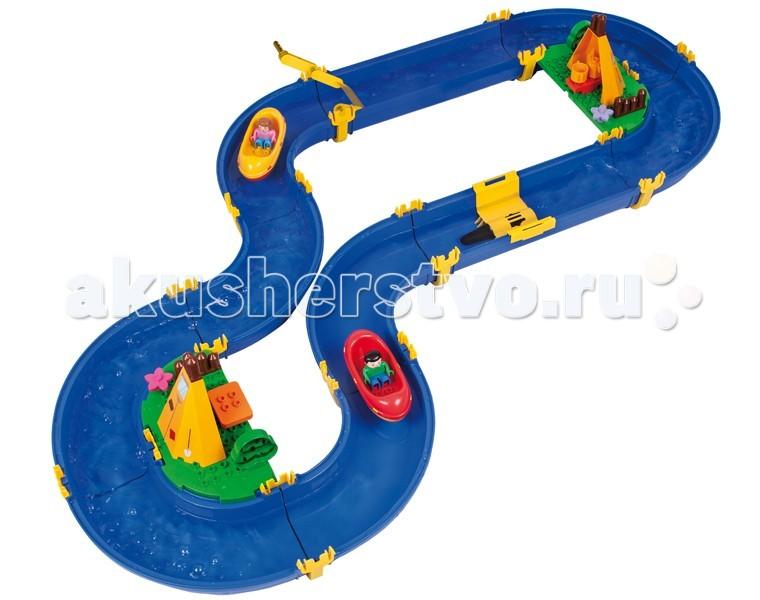 BIG Водный трек Colorado Big WaterplayВодный трек Colorado Big WaterplayВодный трек Colorado Big Waterplay – это единственный набор с водной горкой. Только представьте, как весело запускать лодочки с человечками по этой горке. Что бы использовать горку необходимо воспользоваться насосом, который перекачивает воду в специальный резервуар. Используя перекрытия можно изменять направление движения лодки.   В набор входит: 4 человечка, 4 лодки, механический привод движения потоков, насос и перекрытия.  Благодаря специальной системе крепления набор не требует клея и легко собирается. Комплект можно расширять за счет других наборов серии Waterplay Big.  Набор развивает творческое мышление, фантазию и вовлекает ребенка в интерактив.<br>
