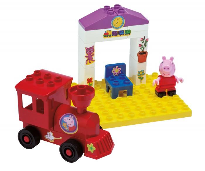 Конструкторы BIG Peppa Pig Поезд с остановкой 15 деталей конструктор big игровая площадка peppa pig 57076