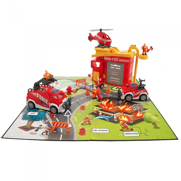 Игровые наборы Saipo Игровой набор Пожарная станция (свет, звук) игровой набор hasbro город пожарная станция b3415