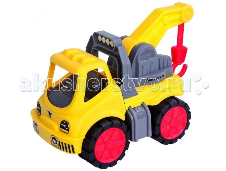 BIG Эвакуатор Power WorkerЭвакуатор Power WorkerЭвакуатор BIG Power Worker станет отличным подарком для любого мальчика.   Особенности:    Игрушечный эвакуатор имеет большие вращающиеся колёса, просторную кабину.  Стрела крана эвакуатора не только опускается и поднимается, но вращается в стороны.   Большие прорезиненные колеса позволяют преодолевать разнообразные препятствия на дороге. Поэтому эвакуатор может вытащить машину даже в труднодоступном месте.  Игрушка окрашена в заметный желтый цвет.   Она сделана из прочного и качественного пластика, который не вызывает аллергию и раздражение у детишек.  Игрушка долговечна, она выдерживает высокие игровые нагрузки.   Размер игрушки: 37 х 20 х 23 см.<br>