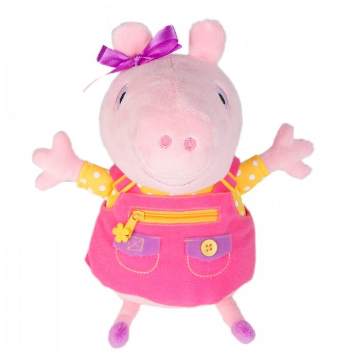 Купить Мягкие игрушки, Мягкая игрушка Свинка Пеппа (Peppa Pig) Пеппа учит одеваться 25 см
