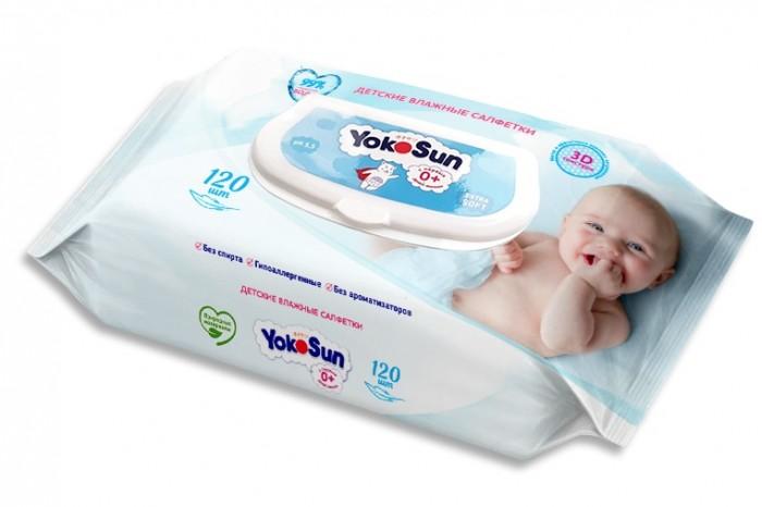 Салфетки YokoSun Детские влажные салфетки 120 шт.