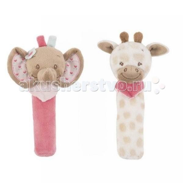 мягкие игрушки для малышей Развивающие игрушки Nattou Cri-Cris Charlotte & Rose пищалка
