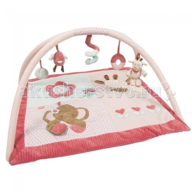 Развивающие коврики Nattou Charlotte & Rose Жираф и Слоник бортики в кроватку nattou charlotte