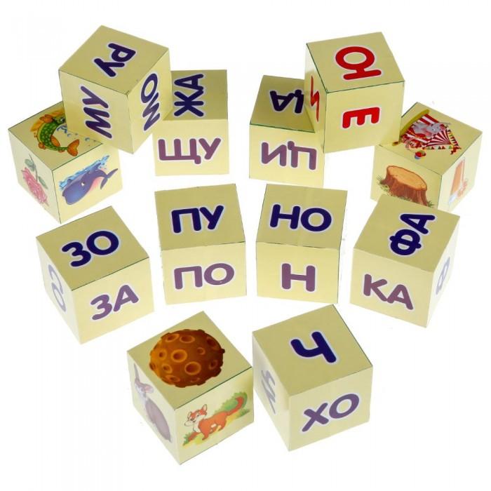Развивающие игрушки Играем вместе Набор из 12 кубиков Читаем по слогам А.Л.Зайцев