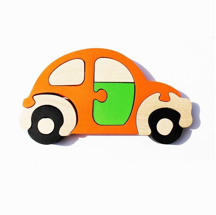 Купить Деревянная игрушка Стеша Развивающий пазл Машинка в интернет магазине. Цены, фото, описания, характеристики, отзывы, обзоры