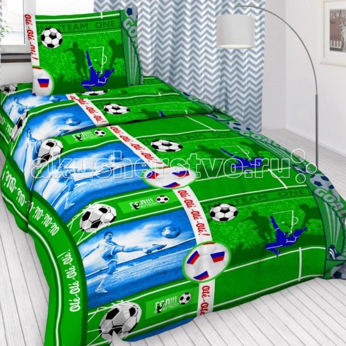 Купить Постельное белье 1.5-спальное, Постельное белье Letto 1.5-спальное Футбол (3 предмета)