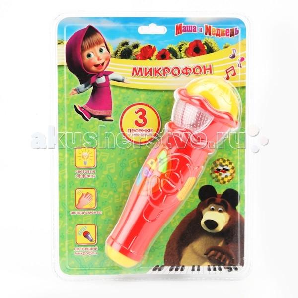 Музыкальные игрушки Играем вместе Микрофон Маша и Медведь A848-H05031-R2 игрушки для ванной играем вместе набор для купания маша и медведь