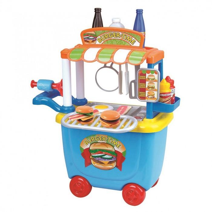 Playgo Игровой набор Бургерная с тележкой