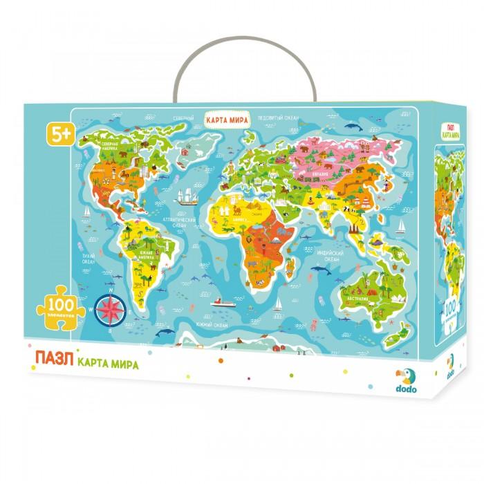 Пазлы Dodo Пазл Карта Мира (100 элементов)