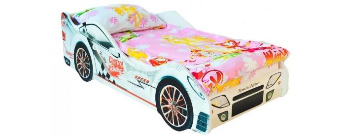 Подростковая кровать Бельмарко машина БезмятежностьКровати для подростков<br>Бельмарко Подростковая кровать-машина Безмятежность  – это оригинальная и качественная продукция в мире детской мебели. Кроватка придется по душе любому мальчишке, мечтающему иметь свой автомобиль. Это игровая зона днем и в то же время, комфортное спальное место ночью, где обязательно приснятся захватывающие приключения. Теперь вам не придется уговаривать малыша лечь спать.  Для безопасности ребенка в дизайн модели защитные бортики, все линии конструкции сделали плавными, а торцы оклеили кромкой. Кроме того, кровать может выдержать большую нагрузку (не менее 200 кг), поэтому можно не опасаться, что она сломается во время активных игр.  Изделие представляет собой крепкое устойчивое основание из деревянных лат и ламинированный корпус из ЛДСП кл. Е1, которые легко монтируются между собой при помощи фурнитуры, входящей в комплект. Также прилагается инструкция по сборке и необходимый инструмент.   Преимущества кроватей: Высота от пола до самого высокого места в соответствии с требованиями ГОСТ составляет 50 см. Это позволяет даже маленькому ребенку комфортно забираться и спускаться с нее, не рискуя упасть. При производстве мы используем ЛДСП максимально высокого качества (гладкая и приятная на ощупь поверхность, высокая плотность материала, отсутствие специфического запаха), высший класс Е-1 (для детских изделий) Отсутствие открытых участков ЛДСП (ГОСТ) Все торцы заклеены кромкой ПВХ с помощью специализированных станков, что улучшает эстетический вид кровати Только у нас используется прямая фотопечать на ЛДСП безопасными ультрафиолетовыми чернилами Все габаритные размеры кровати соблюдены в строгом соответствии с ГОСТом Боковые линии кровати позволяют взрослому удобно сидеть пока ребенок засыпает, при этом ребенок никогда не упадет во сне Легкая сборка в течении 10 минут, все что нужно для этого уже внутри, дополнительные инструменты не требуются. Подробная инструкция по сборке Деревяные прочные