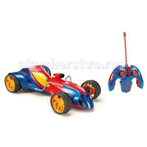 Majorette Радиоуправляемый автомобиль Человек Паук 17 смРадиоуправляемый автомобиль Человек Паук 17 смРадиоуправляемый автомобиль Majorette Человек-паук - восхитительный выбор для всех поклонников отважного супергероя.    Особенности:    Машинка выполнена в масштабе 1 к 12.  Движение машины: вперед-назад, влево-вправо, стоп.  Двухканальное радиоуправление (27 и 40 МГц).  Функция поворота на 45 градусов (наклон колес).   Прорезиненные колеса обеспечивают отличное сцепление с поверхностью. Пульт  управления очень удобный.   Батареи в комплекте: 1 x батарея • Крона (6F22), 5 x батарей • AA  Размер игрушки: 17 см<br>