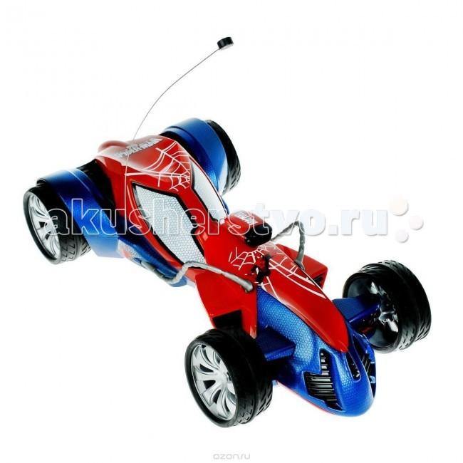 Majorette Радиоуправляемый автомобиль Человек Паук 34 смРадиоуправляемый автомобиль Человек Паук 34 смРадиоуправляемый автомобиль Majorette Человек-паук  С мощной машиной ваш малыш будет победителем в любой заезде со своими друзьями, а двухканальный пульт дистанционного управления позволит играть малышу сразу с двумя одинаковыми наборами.    Особенности:    Данный автомобиль является копией авто героя Человека-Паука из фильма (масштаб 1:12).  Движение машинкой осуществляется благодаря двухканальному пульту управления.   Задние колеса машины могут поворачиваться на 45 градусов, делая поездку не только быстрой, но и маневренной.  Прорезиненные колеса обеспечивают отличное сцепление с поверхностью.   Пульт управления очень удобный.  Машинка упакована в прочную красивую коробку с прозрачной фронтальной вставкой.   Автомобиль имеет обтекаемый пластиковый корпус и символику героя.   В выемку, которая находиться на корпусе, можно посадить фигурку.   Пульт выполнен в полукруглой эргономичной форме и снабжен жесткими держателями с двумя синими клавишами.    Размер игрушки: 34 см<br>
