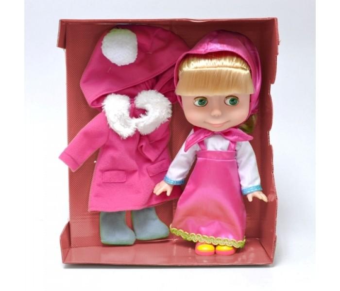 Карапуз Интерактивная кукла Маша с набором зимней одежды 25 см