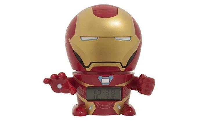 Часы Марвел (Marvel) Будильник BulbBotz Infinity Wars минифигура Iron Man 14 см