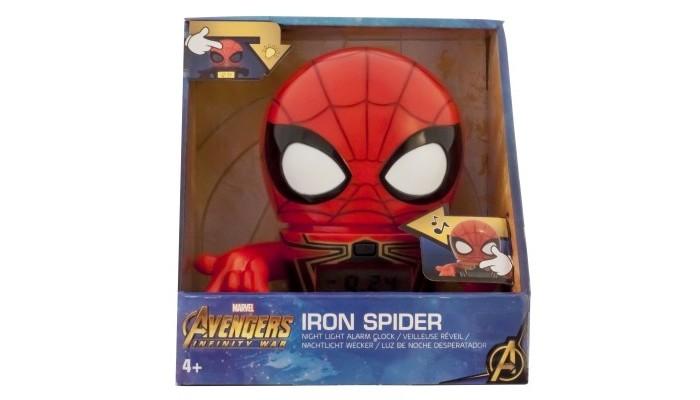Часы Марвел (Marvel) Будильник BulbBotz Infinity Wars минифигура Spider-Man 14 см