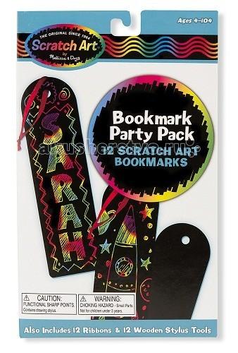Наборы для творчества Melissa & Doug Набор для творчества Scrach art Закладка для книг закладка для книг колокольчик