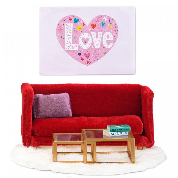 Lundby Кукольная мебель Смоланд Гостиная в красных тонах фото