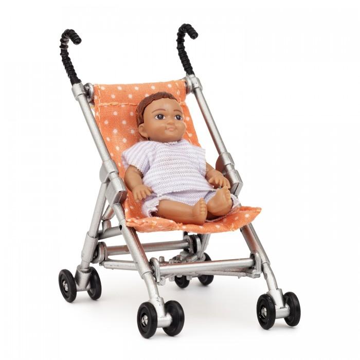 Коляска для куклы Lundby Игровой набор для домика коляска с пупсом