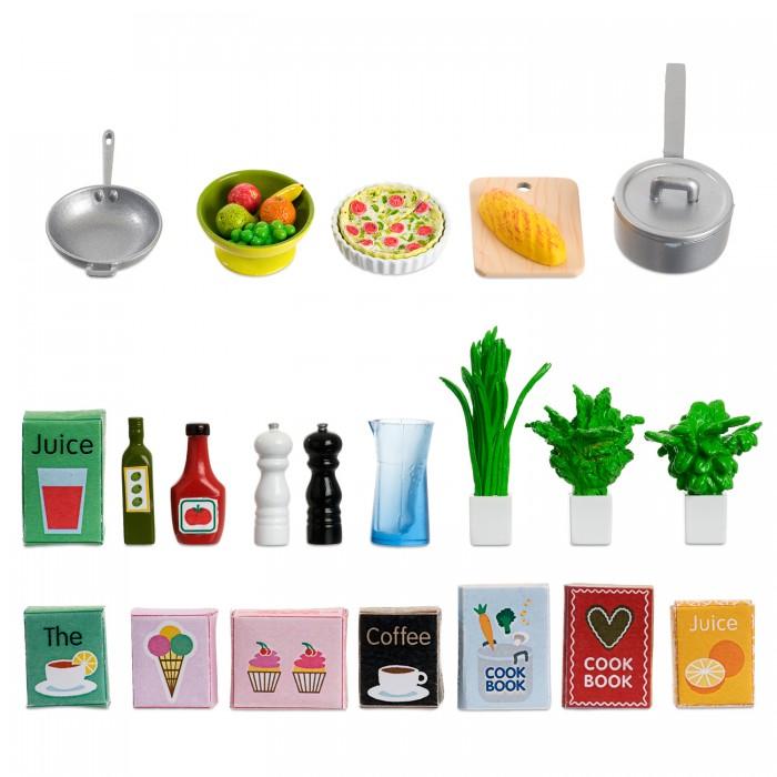 Фото - Кукольные домики и мебель Lundby Аксессуары для домика Набор кухонных аксессуаров 21 штука аксессуары для домика lundby пес семьи со щенками