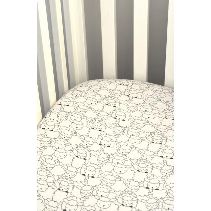 простыни bambola простыня трикотажная круглая на резинке Простыни Пелёнкино Трикотажная простынь на резинке Барашки