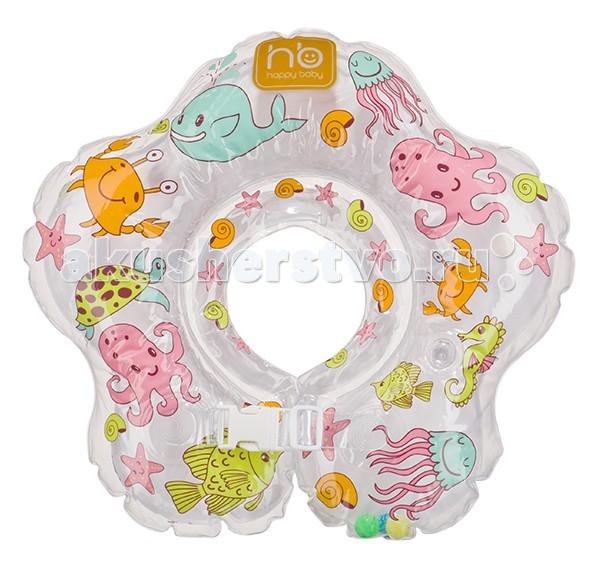 Круги для купания Happy Baby Aquafun надувной на шею roxi kids fl003 круг на шею для купания малышей music