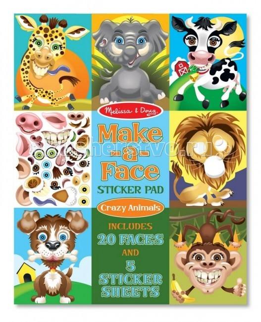 детские зонтики melissa Детские наклейки Melissa & Doug Набор стикеров животные