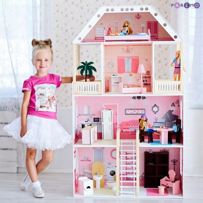 Купить Кукольные домики и мебель, Paremo Кукольный домик Поместье Монтевиль (с мебелью)