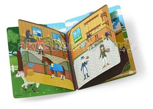 Детские наклейки Melissa & Doug Набор делюкс со стикерами - конюшня набор семья коров на пастбище schleich набор семья коров на пастбище