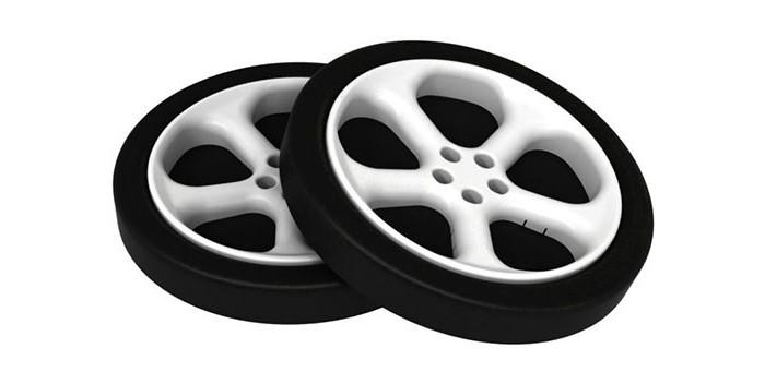 Аксессуары для мебели Бельмарко Комплект пластиковых колес для кровати-машины 2 шт.