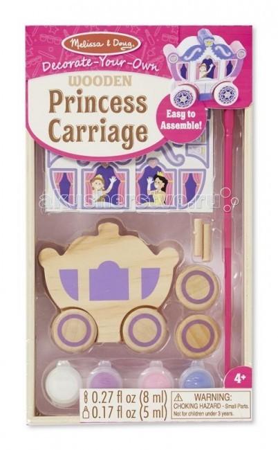 Заготовки под роспись Melissa & Doug Раскрась Карету принцессы заготовки под роспись amav diamant набор раскрась щенка 3d