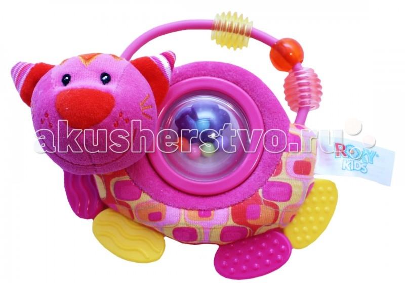 Погремушки ROXY Котенок Минкси с прорезывателем roxy kids roxy kids развивающая игрушка котенок минкси