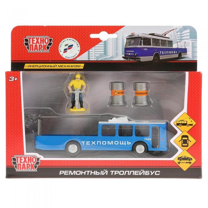 Машины Технопарк Машина металлическая Трамвай ремонтный с фигуркой 16.5 см набор ремонтный для сифона