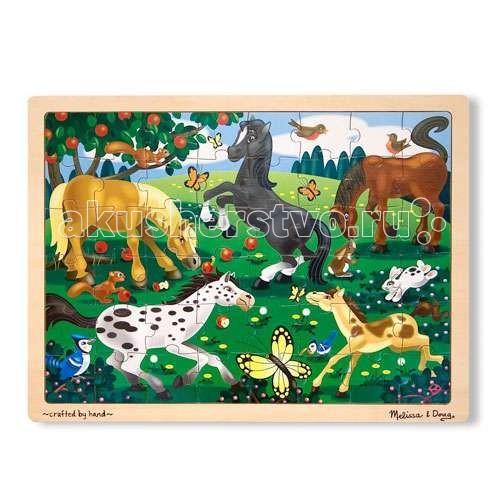 Деревянная игрушка Melissa & Doug Мои первые пазлы Резвые лошади