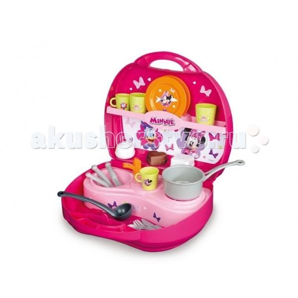 Ролевые игры Smoby Мини кухня в чемоданчике Минни кухня игрушечная smoby smoby детская кухня для девочек minnie мини