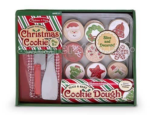 Деревянные игрушки Melissa & Doug Готовь и играй Рождественские кексы, Деревянные игрушки - артикул:61518