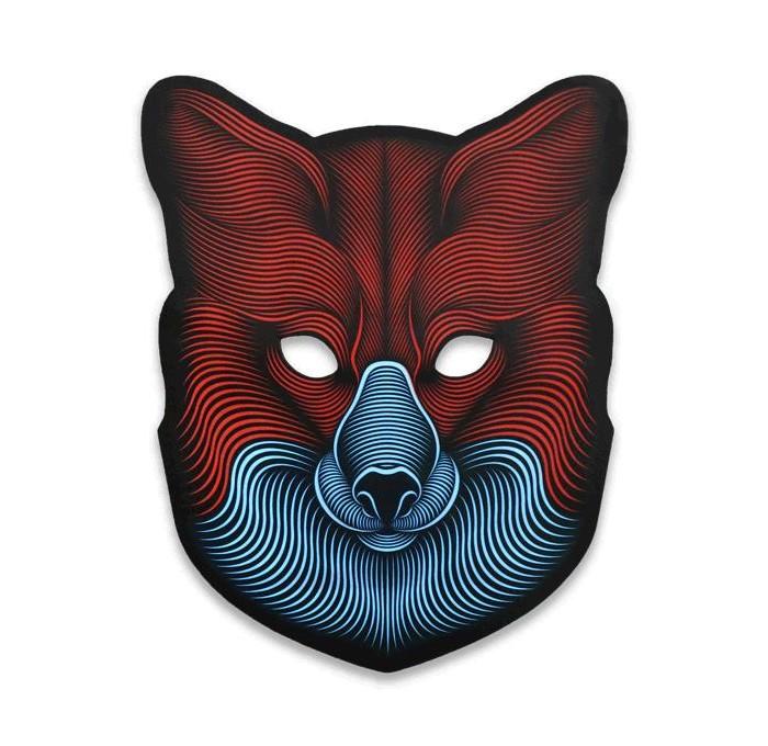 GeekMask Cветовая маска с датчиком звука FoxРолевые игры<br>Cветовая маска с датчиком звука GeekMask Fox  Хэллоуин и новогодние праздники не так далеко, как кажется, поэтому предлагаем задуматься о креативном перевоплощении уже сейчас!   У вашего ребенка намечается детский утренник, бал-маскарад или карнавал?   Cветовая маска с датчиком звука GeekMask внесет нотку задора и веселья в праздник и станет завершающим штрихом в создании праздничного образа. С GeekMask вы можете снять шутливый ролик для видеоблога, отправиться на флэшмоб или в клуб.  Вы станете королем любой вечеринки в инновационной маске, которая реагирует на музыку вокруг вас!                                                                                                                           Благодаря регулируемому ремешку маска подойдет для всех возрастов!                                        Зарядное устройство в комплекте.